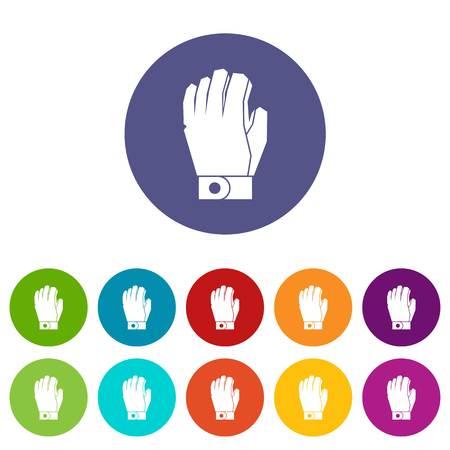 icehockey: Hockey glove set icons