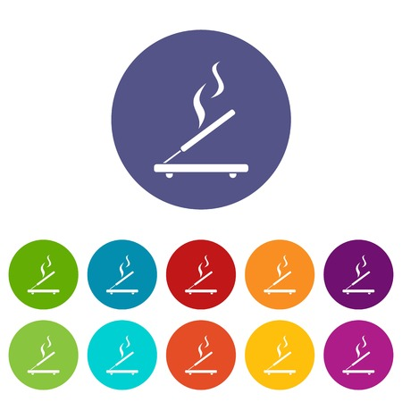 incense sticks: Incense sticks set icons