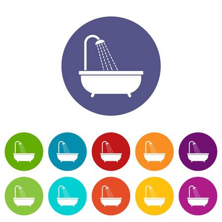 jet stream: Conjunto de ducha iconos