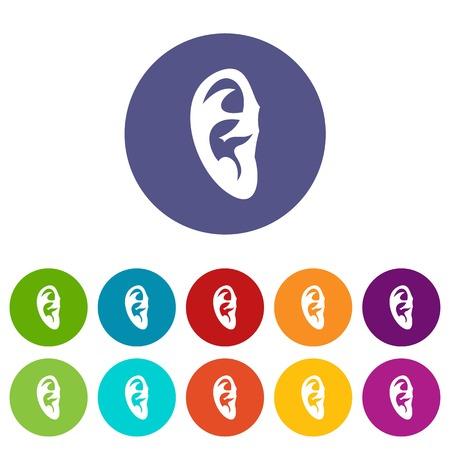 Ear set icons Illustration
