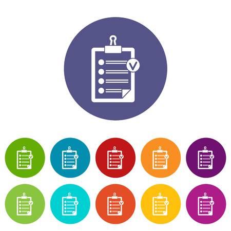 writing pad: Check list set icons