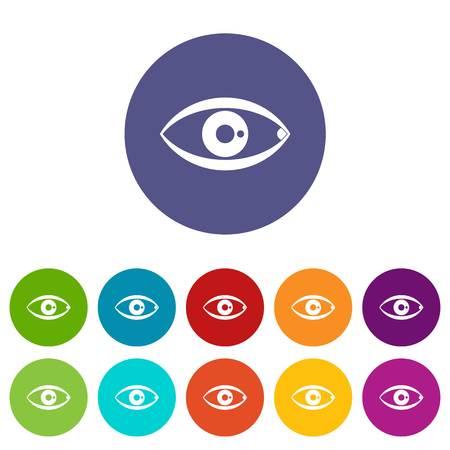 human eye: Human eye set icons Illustration
