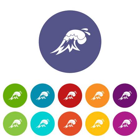 Surf wave set icons