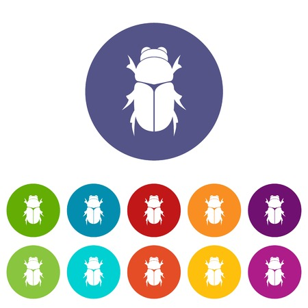 Chafer beetle set icons
