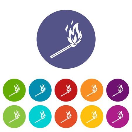 Match flame set icons