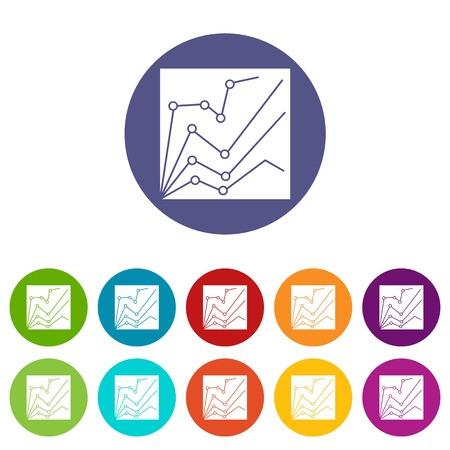 metrics: Financial statistics set icons