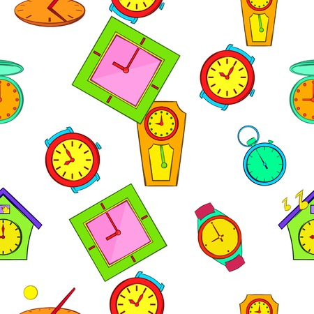 Kinds of watches pattern, cartoon style