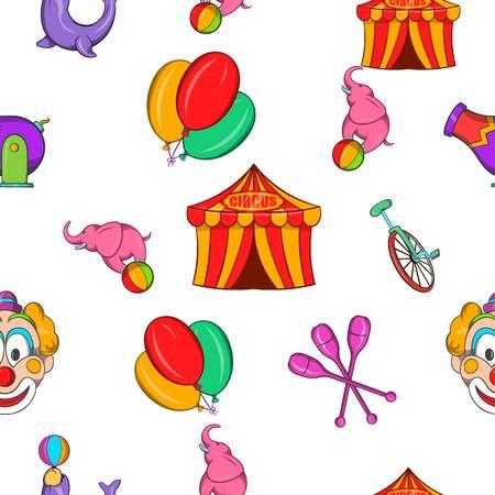 Concert in circus pattern. Cartoon illustration of concert in circus vector pattern for web