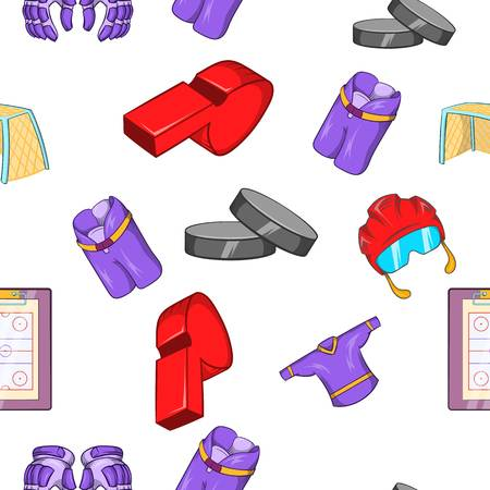 Ice fight pattern. Cartoon illustration of ice fight vector pattern for web