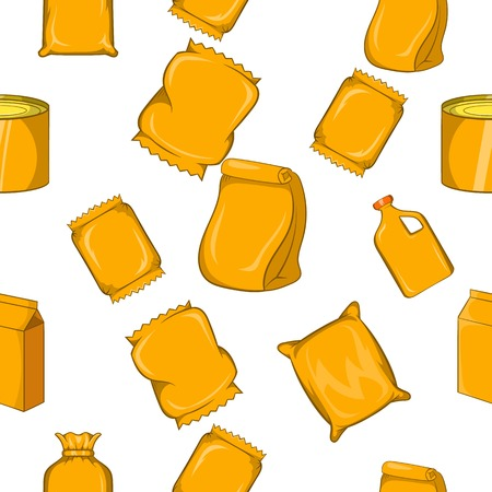 Pack pattern. Cartoon illustration of pack vector pattern for web