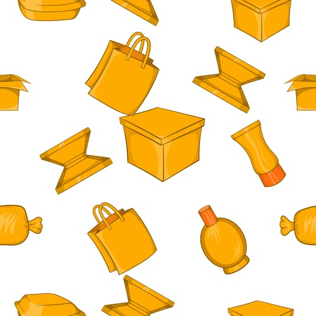 Packing pattern. Cartoon illustration of packing vector pattern for web Illustration