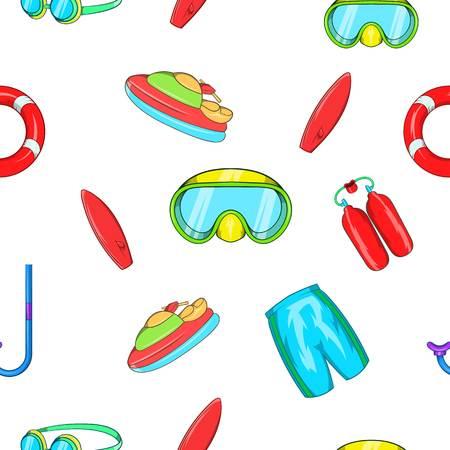 Water stay pattern. Cartoon illustration of water stay vector pattern for web Illustration