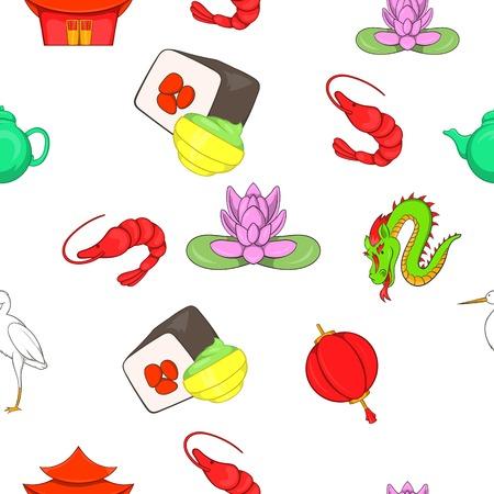 China Republic pattern. Cartoon illustration of China Republic vector pattern for web