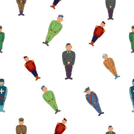 infantryman: Military pattern. Cartoon illustration of military vector pattern for web Illustration