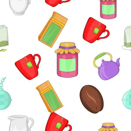 contemporary taste: Drink pattern. Cartoon illustration of drink vector pattern for web