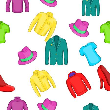 Different clothes pattern, cartoon style