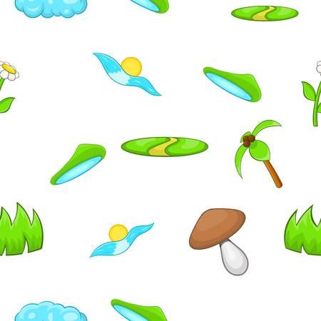 vista: Environment pattern, cartoon style