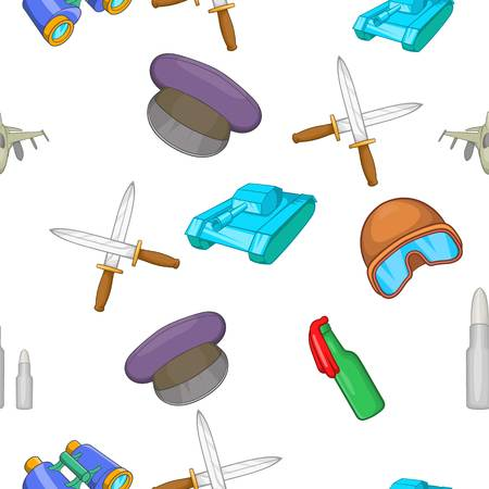 Weaponry pattern, cartoon style