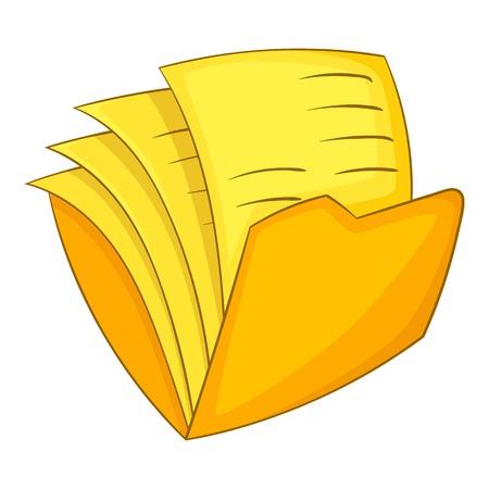Office folder icon, cartoon style