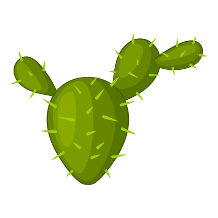 Prickly pear icon, cartoon style