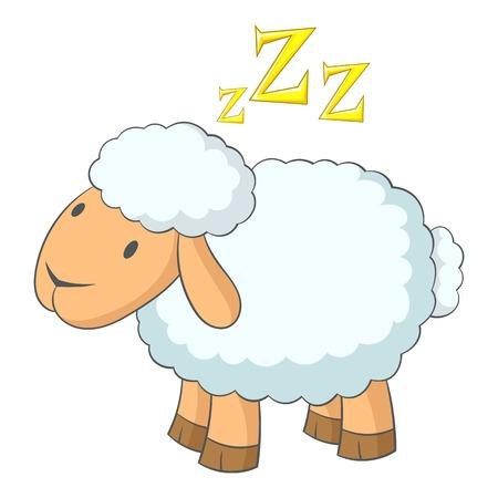 Icona delle pecore Illustrazione del fumetto dell'icona di vettore delle pecore per il web