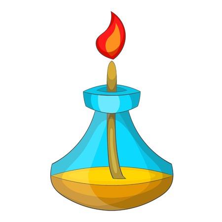 Chemical burner icon. Cartoon illustration of chemical burner vector icon for web Illustration