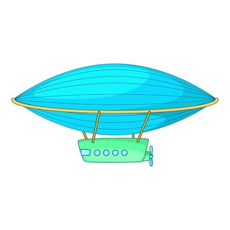 blimp: Airship icon. Cartoon illustration of airship vector icon for web Illustration