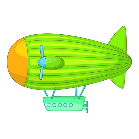 blimp: Big airship icon. Cartoon illustration of big airship vector icon for web Illustration