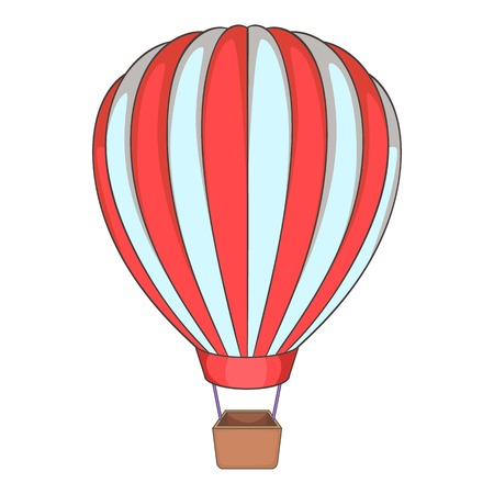 blimp: Balloon icon. Cartoon illustration of balloon vector icon for web Illustration