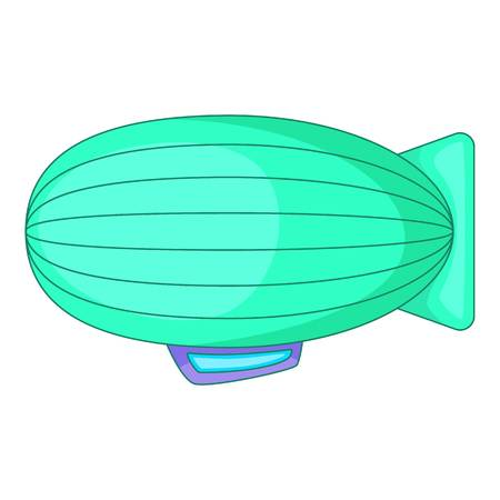 blimp: Fly airship icon. Cartoon illustration of fly airship vector icon for web