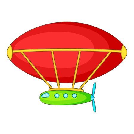 blimp: Dirigible icon. Cartoon illustration of dirigible vector icon for web