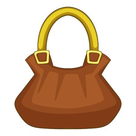 Woman bag icon. Cartoon illustration of woman bag vector icon for web Illustration