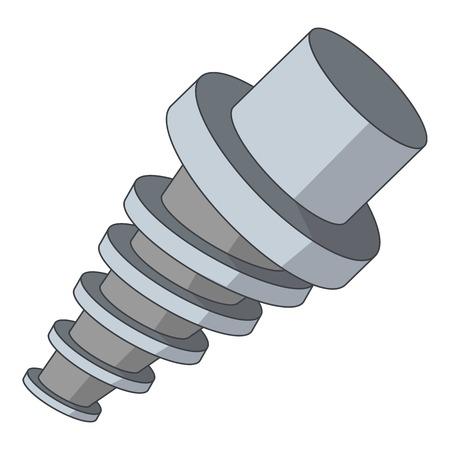 motorizado: Spiral tool l icon. Cartoon illustration of spiral tool vector icon for web