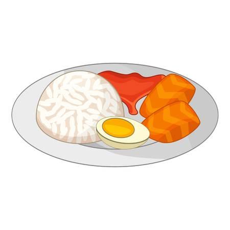 Bento, Japanese food icon. Cartoon illustration of bento, Japanese food vector icon for web