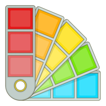 gamma: Color palette guide icon. Cartoon illustration of color palette guide vector icon for web