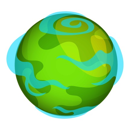 Earth planet icon. Cartoon illustration of Earth planet vector icon for web