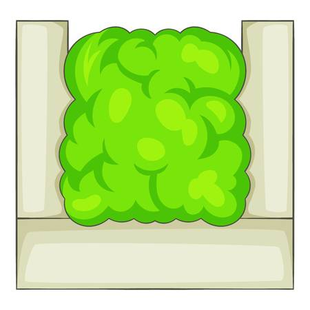 Fence hedge icon. Cartoon illustration of fence hedge vector icon for web