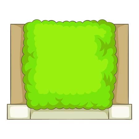 hedge trees: Green fence icon. Cartoon illustration of green fence vector icon for web Illustration