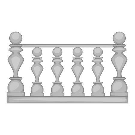balustrade: Classic stone balustrade icon. Cartoon illustration of classic stone balustrade vector icon for web