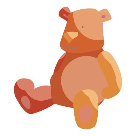 cuddly baby: Teddy bear toy icon. Cartoon illustration of teddy bear toy vector icon for web