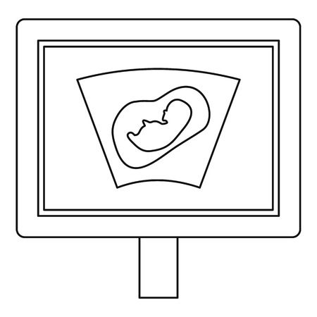 firstborn: Ultrasound fetus icon. Outline illustration of ultrasound fetus vector icon for web