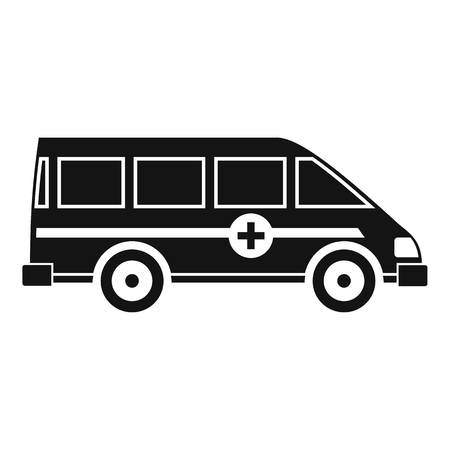 disaster relief: Ambulance emergency van icon. Simple illustration of ambulance emergency van vector icon for web Illustration