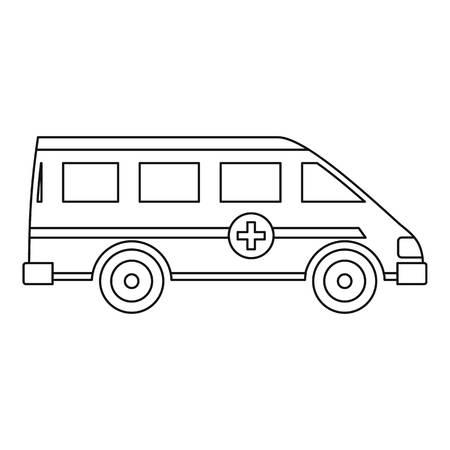 Icona di auto paramedico emergenza ambulanza. Descriva l'illustrazione dell'icona di vettore dell'automobile del paramedico di emergenza dell'ambulanza per il web