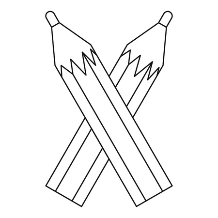 Pencils icon. Outline illustration of pencils vector icon for web