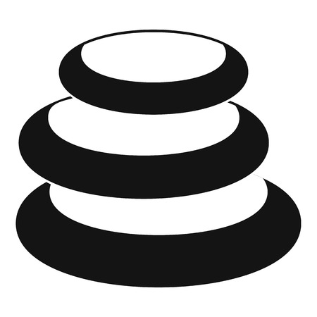 Stack of basalt balancing stones icon. Simple illustration of stack of basalt balancing stones vector icon for web