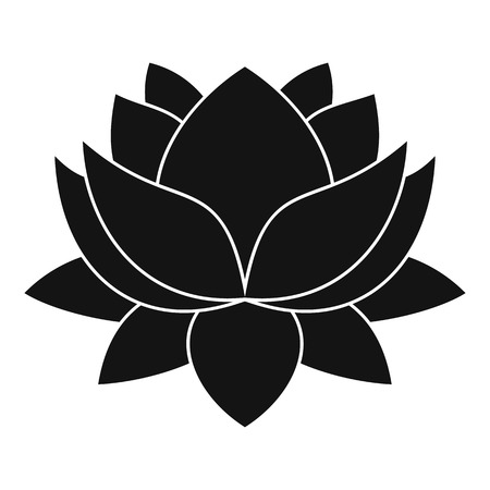 Water lily flower icon. Simple illustration of water lily flower vector icon for web Ilustração