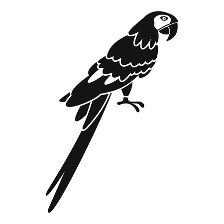 aviary: Brazilian parrot icon. Simple illustration of brazilian parrot vector icon for web