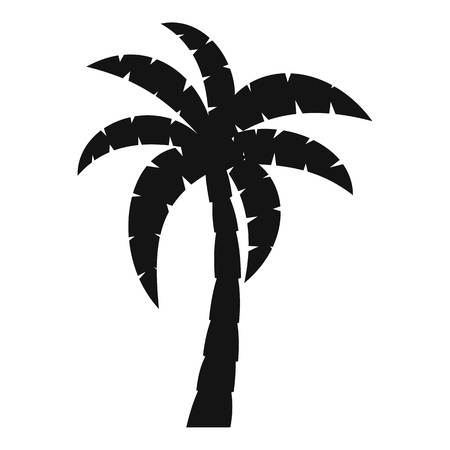 Palm icon. Simple illustration of palm vector icon for web Illustration