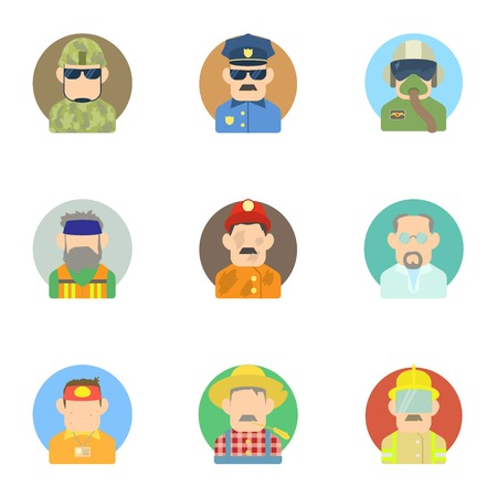 specialty: Specialty icons set. Flat illustration of 9 specialty vector icons for web Illustration