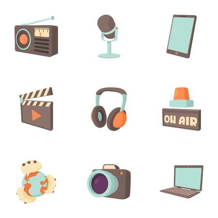 headline: Headline icons set. Cartoon illustration of 9 headline vector icons for web Illustration